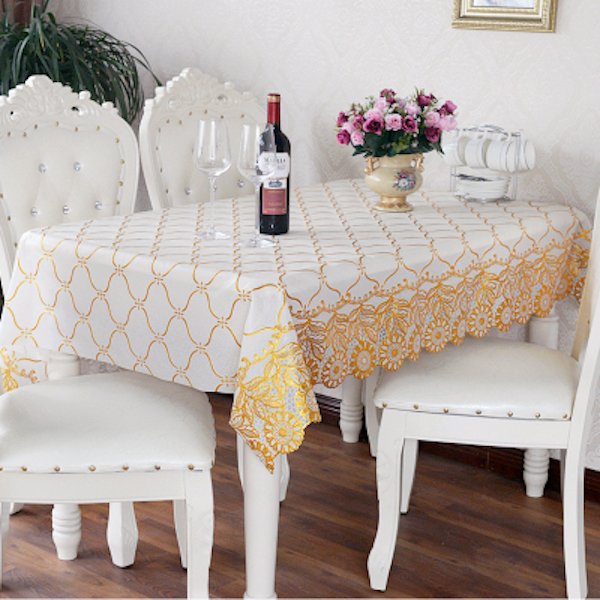 Beautiful PVC Tablecloth Dining Table Plastic Cover Coffee End Table Cloth Waterproof  Round Square Rectangle Wave Sunflower Custom Made In Tablecloths From Home  ...