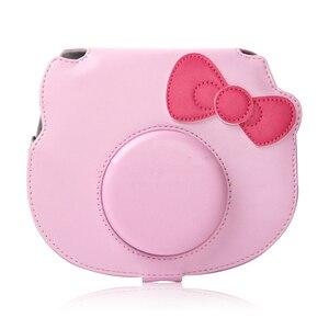Image 5 - Película fotográfica instantánea Fujifilm Instax Mini Pink Hello Kitty, edición limitada, cámara + 10 películas Instax + bolso de poliuretano para cámara, funda + pegatina