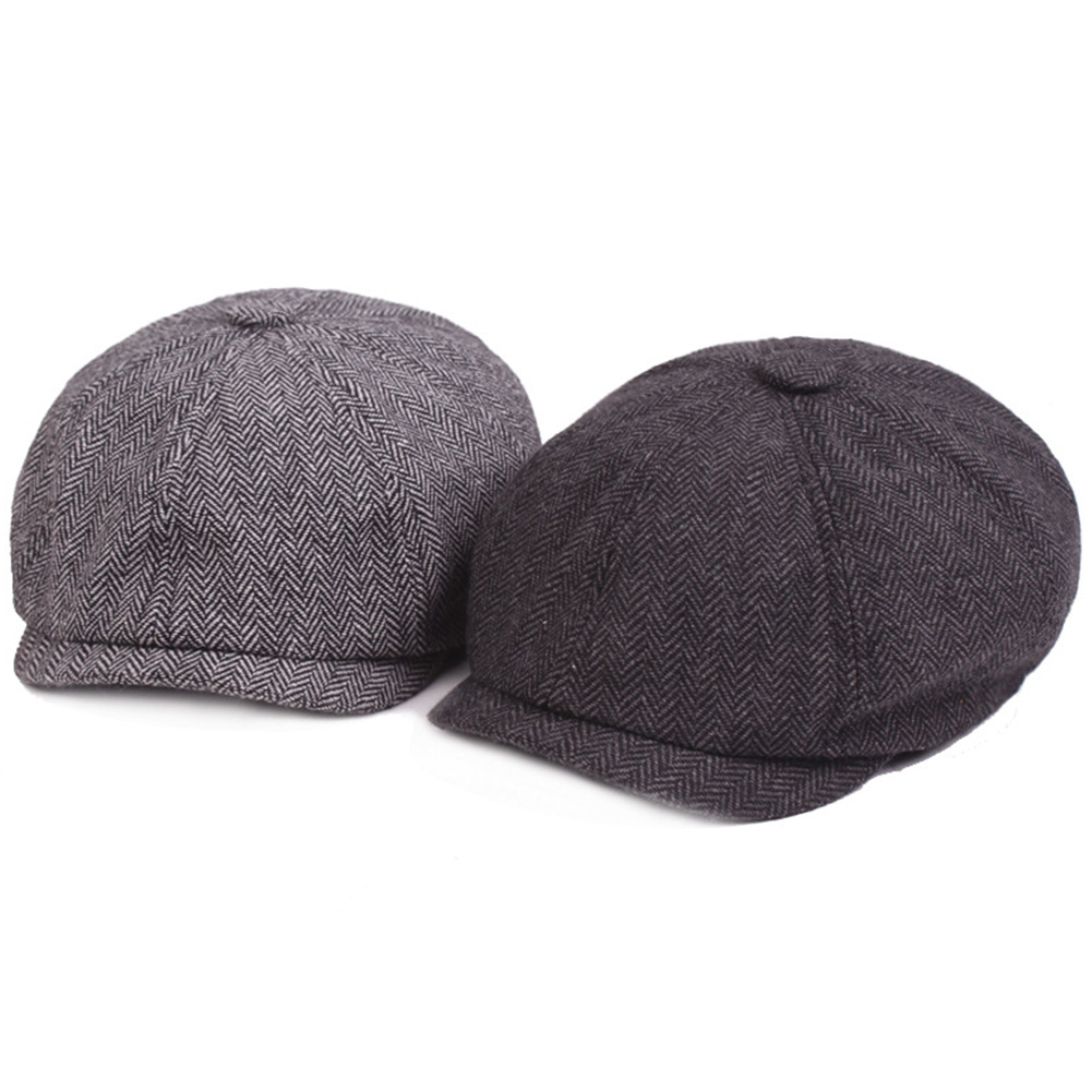 Beret Twill Weaving Cotton Blend Portable Lightweight Newsboy Men Cap Ergonomic Design Painter Octagonal Adjustable Washable