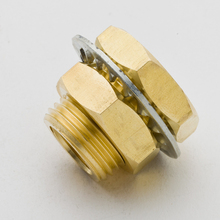 Pack of 2 Brass Pipe Fitting Bulkhead Coupling Coupler 1/4 NPT Male Thread Plumb Water Gas Quick Connector