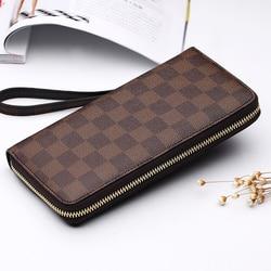 AIM famous luxury brand multi-function Geometry pattern zipper fashion bag genuine sac a main femme long brand bags PD012GZW