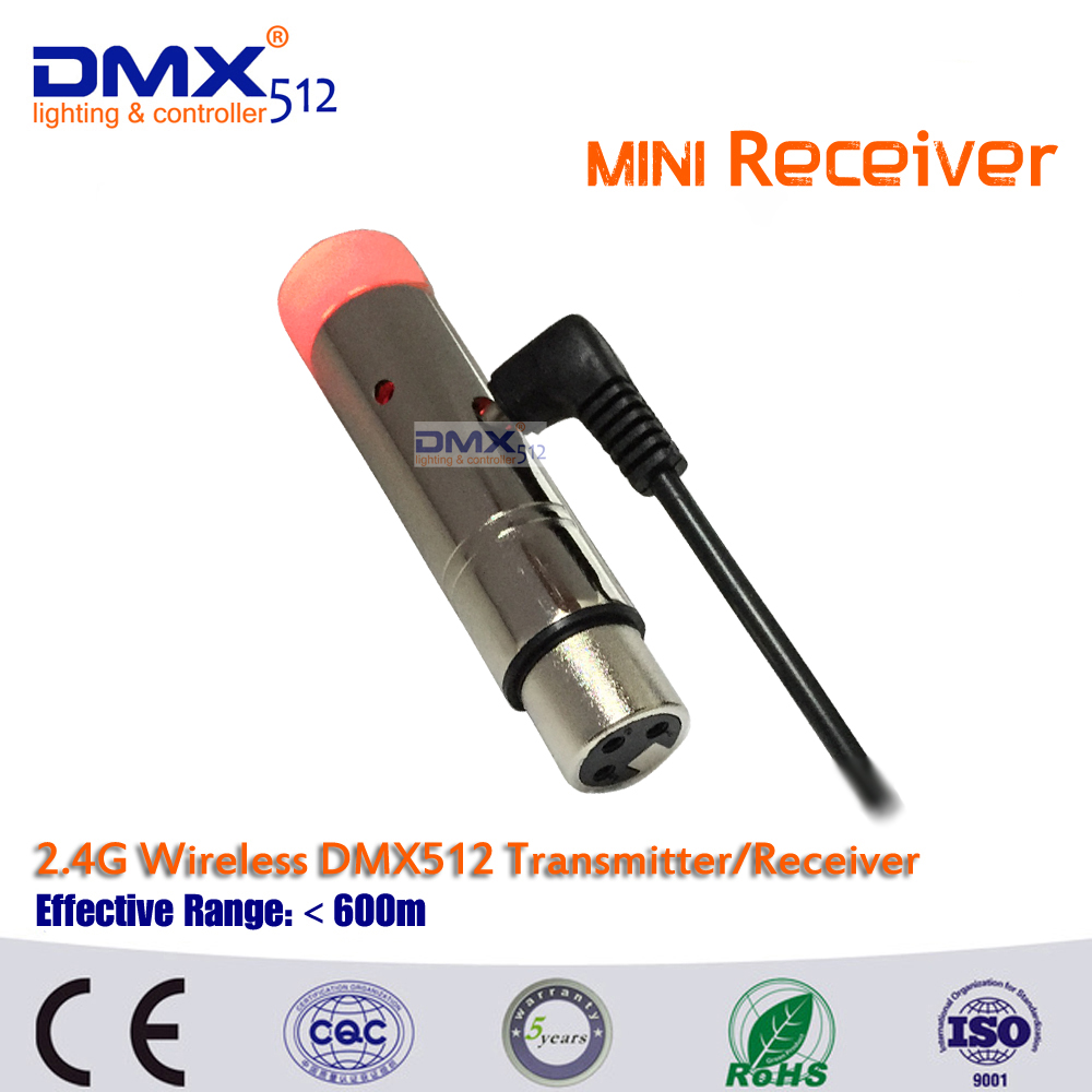 Free shipping hot sale 2 4G wireless DMX 512 MINI receiver signal stability led dmx controller