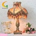 Fashion rustic lace table lamp princess bedside led  110V-220v E27 romantic Light