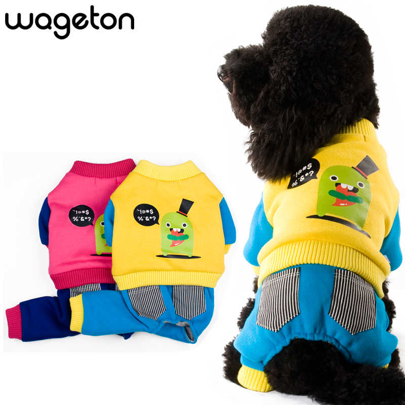 "Free Shipping ! WAGETON Fashion Pet Winter clothing ""Small green monster""  Wholesale and Retail designer dog clothes -2 colors"