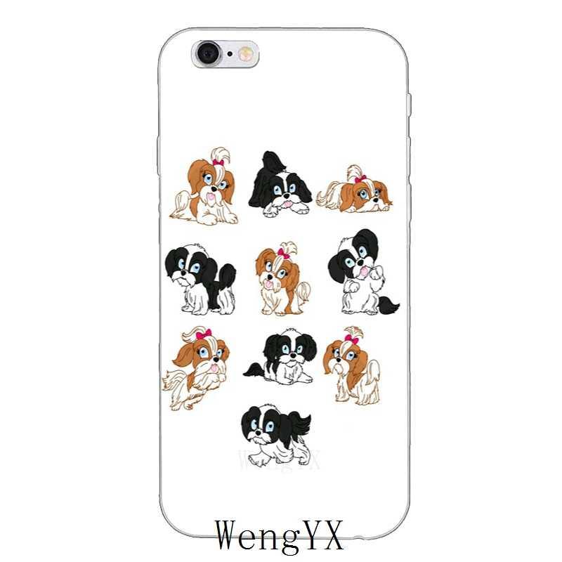 Милый чехол для телефона Shih Tzu puppy dogs, тонкий силиконовый мягкий чехол для телефона для Iphone 4 4s 5 5S 5c SE 6 6s plus 7 7 plus 8 8 plus X