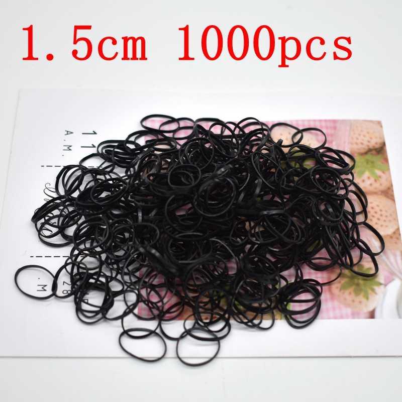 1000 шт/партия, одноразовая резинка для волос, Детские резинки из ТПУ, держатель конского хвоста, эластичная повязка на волосы для девушек, аксессуары для волос