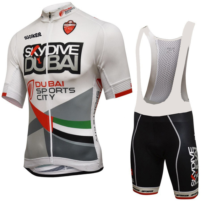 SGCIKER Pro team Skydive DUBAI cycling jerseys summer Bicycle maillot  breathable MTB Short sleeve bike cloth Ropa Ciclismo sets 91b6f6678