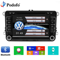 Podofo 2 Din 7 Car DVD Player For VW Volkswagen Passat POLO GOLF Skoda Seat With