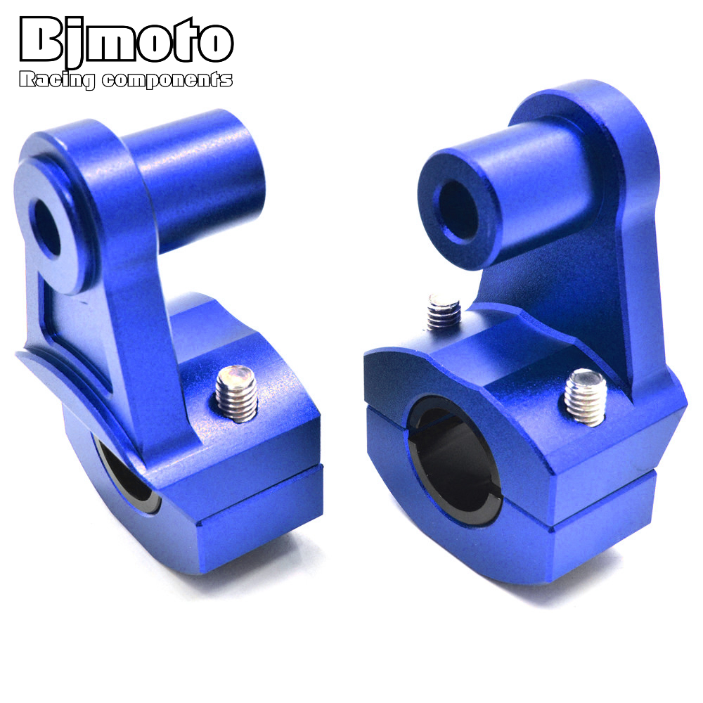 BJMOTO Universal Anodized 2-1/4  Pivoting Motocross Handlebar Riser For Honda Kawasaki Suzuki KTM Dirt Bike 22mm/28mm Bars Clamp
