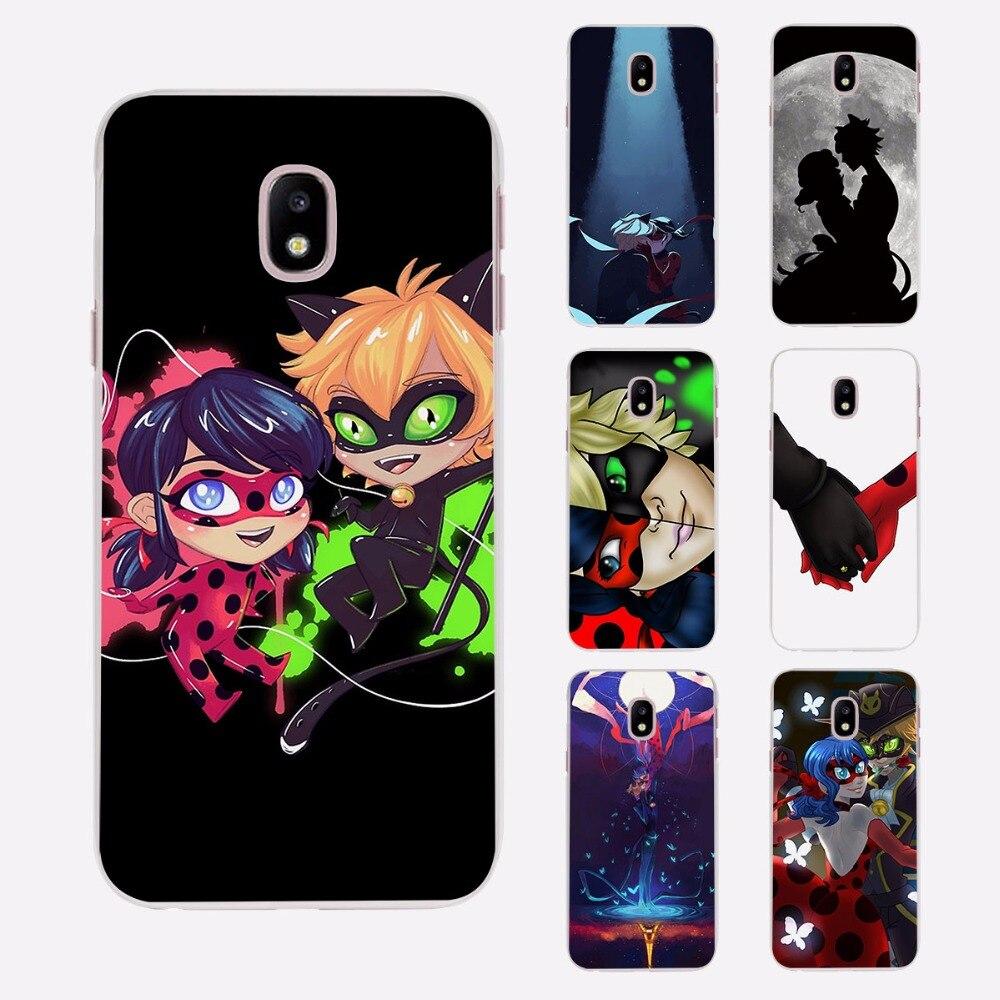 huge selection of e4c85 b390f US $1.85 38% OFF Miraculous Ladybug Chat Noir Thin Clear phone shell Case  for Samsung J3 J7 2017 J5Prime J7Prime J510 J710 J2 2016 J1-in Half-wrapped  ...