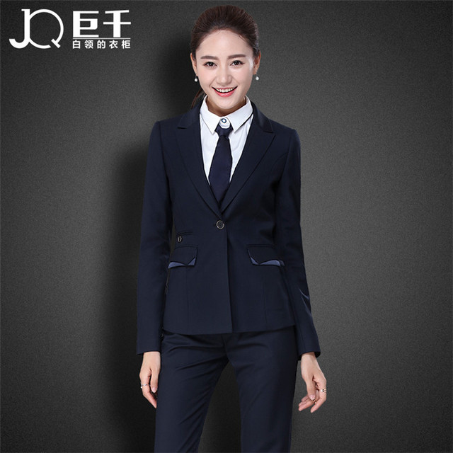 abad215f8 China Juqian Fashion Formal Office Lady Latest Design Suit Woman Coat Pant  Suits