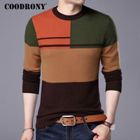 COODRONY Sweater Men 2017 New Casual O Neck Pull Homme Winter Thick Warm Wool Sweaters Plus