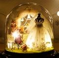 DIY De Madeira casa de Bonecas Em Miniatura 3D Cabine Artesanal bonecas de Brinquedo Para As Crianças Brinquedos de Natal Presente de Aniversário & tampa Protetora Contra Poeira