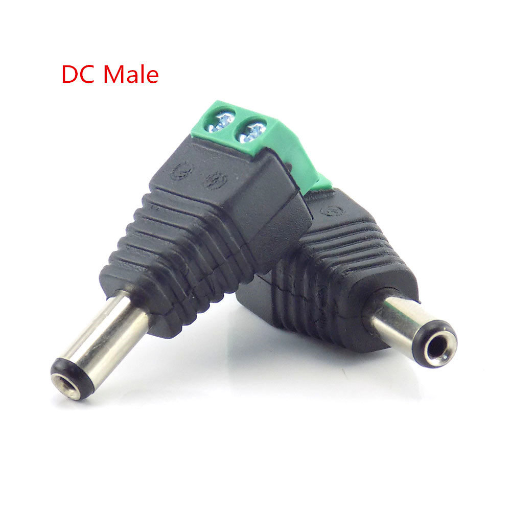 1pc Bnc Male Connector DC Male Connector Adapter Power Supply BNC Plug DC Adapter For CCTV Surveillance Camera Bnc CCTV System