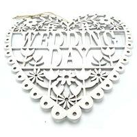 Wedding Decoration Supplies White Wood Wedding Gift Hanging Sign Wedding Day Mr Mrs 26cm 26cm 0