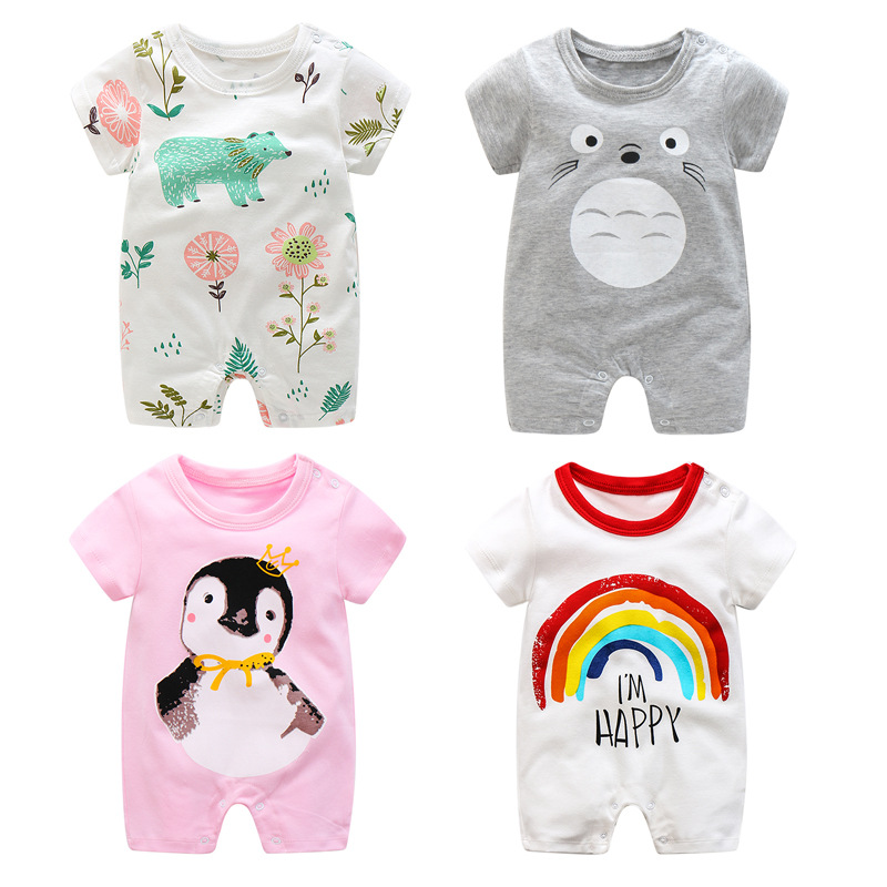 2018 New Baby Rompers Cotton short sleeve baby boy girl clothes summer Fashion printing Jumpsuits Roupas Bebes newborn Clothing