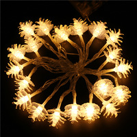 FUNIQUE 1Set 20LEDs String 2m Fairy Light Christmas Lights Battery Operated Garden Home Outdoor Decoration Navidad