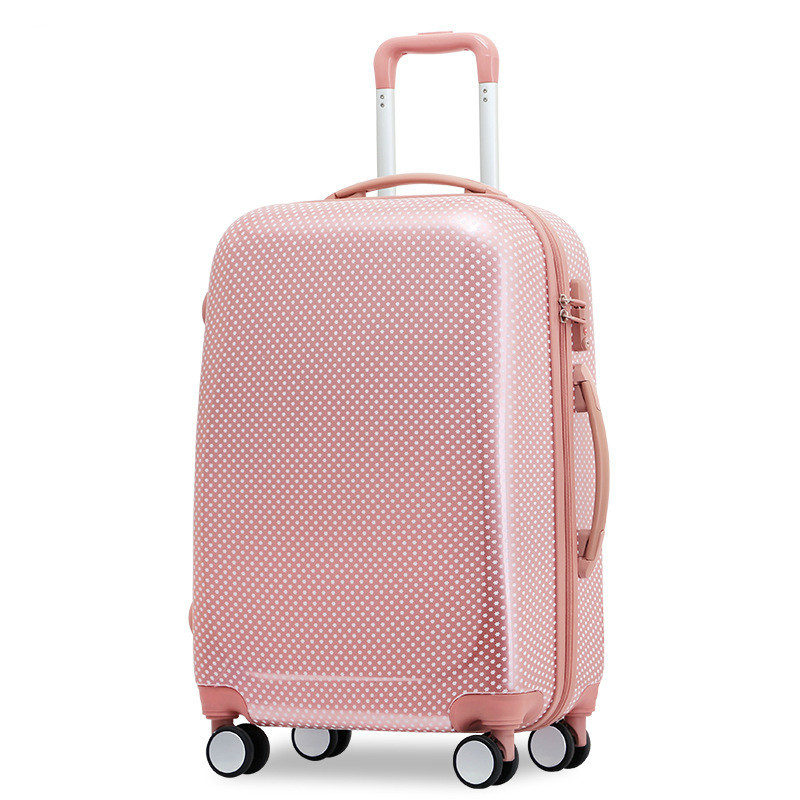 20'' 22 '' 24'' 26'' Fashion ABS PC Polka Dot Rolling Trolley Suitcase Luggage valise koffer maleta