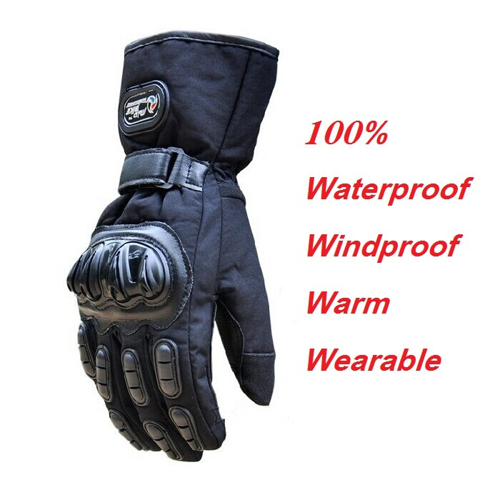 Winter Motorcycle <font><b>Gloves</b></font> Waterproof Warm Motocross Racing Motos Motorbike Cycling <font><b>Glove</b></font> luvas Guantes M L XL Black Blue Red