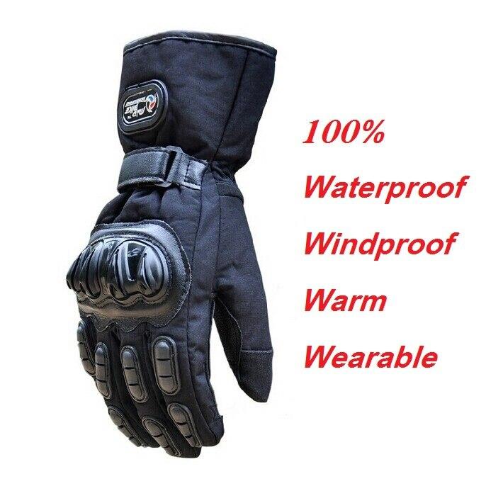 Winter Motorrad Handschuhe Wasserdichte Warme Motocross Racing Motos Motorrad Radfahren Handschuh luvas Guantes M L XL Schwarz Blau Rot