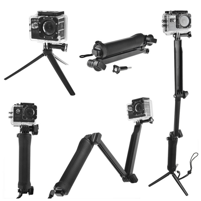 Shoot 3 way impermeabiliza elf ie aperto mono pod tripé para gopro hero 5 4 3 +/3/2 sessão é painço acessórios da câmera SJ4000