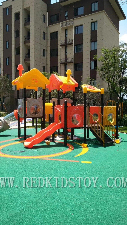 Équipement de jeu extérieur de série de toit de maison d'arbre de qualité supérieure pour des enfants HZ-8722A