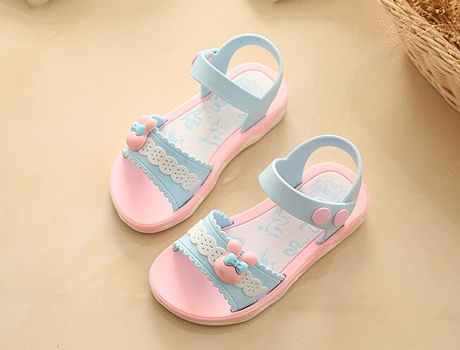 Girls Sandals Summer Hot Children Rain Shoes Big Girls Beach Sandal Kids Shoes PVC Sandal 23-31 New Cheap Primary School Student