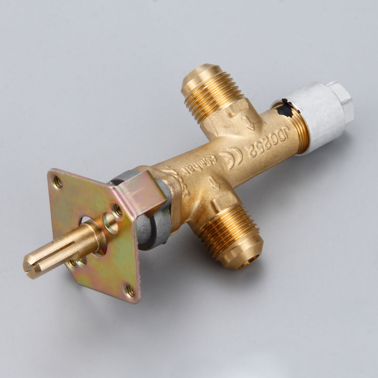 Safety Valve For Fire Pit Control With 3/8inch NPT Inlet And Outlet Corrugated Low Pressure 65Mbar For LPG Gas