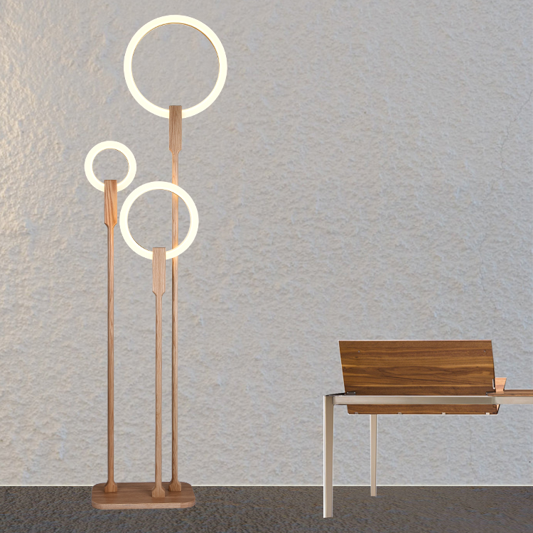 Modern LED living room floor lamp Wooden luminaire bedroom standing lamps nordic illumination home deco lighting fixtures modern 9w 12w 15w led floor lamp remote dimmable stand lights living room piano reading standing lighting led floor lighting