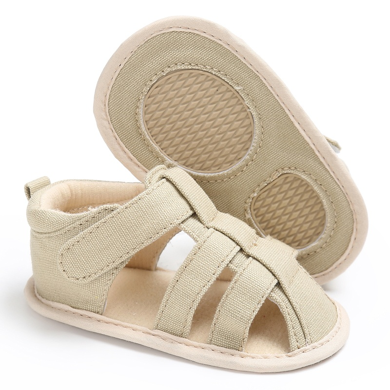 Summer Newborn Baby Boys Casual Breathable Hollow Out Breathable Baby Slippers Prewalker Solid Sandal Shoes