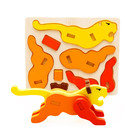 3D Dimensional puzzle Wooden Animal Jigsaw Puzzle Toys For Children DIY Baby Kids Handmade Wooden Toys