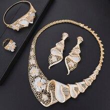Missvikki ensemble de bijoux couleur or de dubaï, assortiment de bijoux couleur or, cadeau de mariage nigérian, vente en gros daccessoires