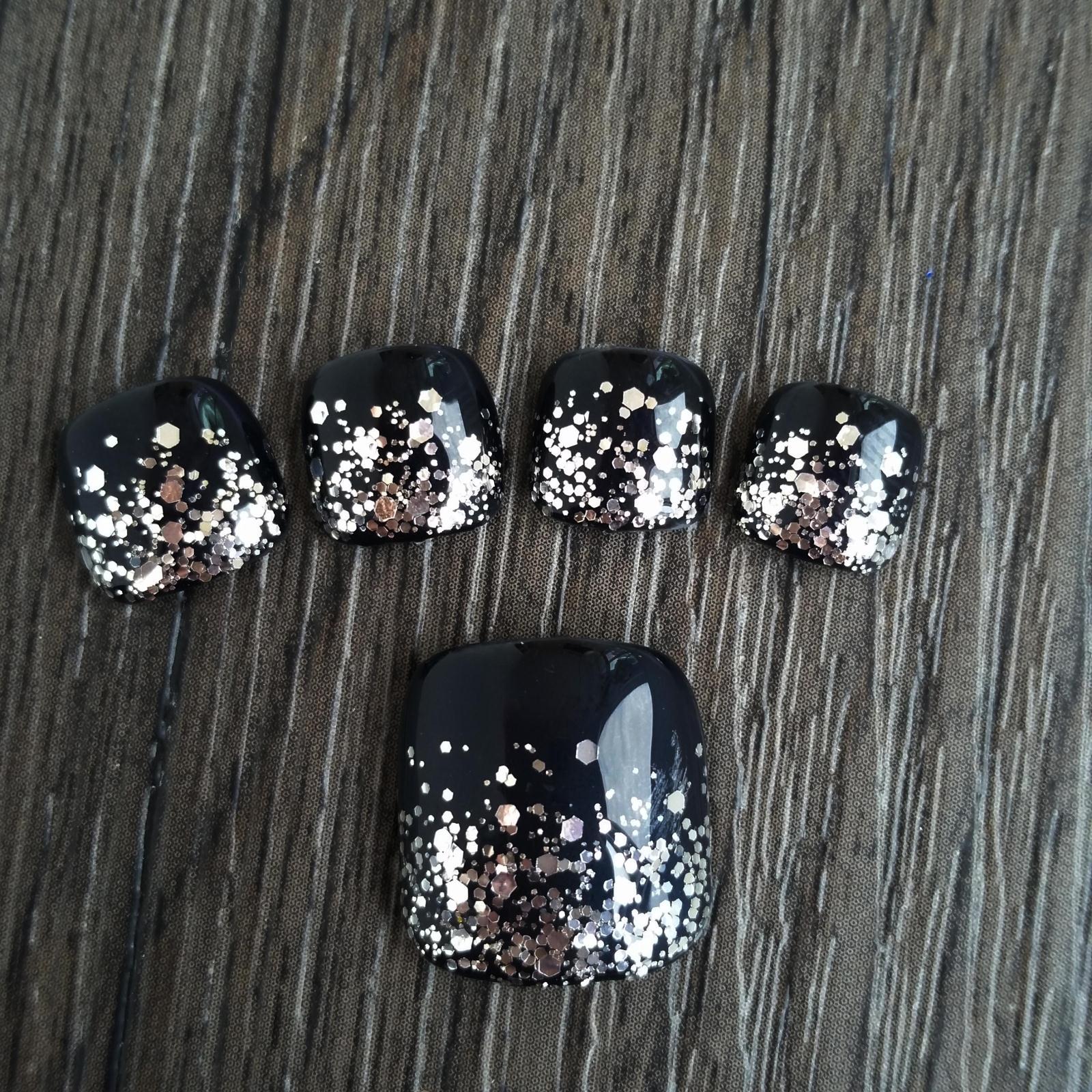 Shine Pure Silver Nail Art Mix Size Glitter DIY Manicure Decoration ...