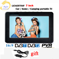 LEADSTAR D7 7-дюймовый цифровой led ТВ плеер DVB-T T2 аналоговый все в одном мини ТВ Поддержка USB TF ТВ-программ автомобильное зарядное устройство в пода...