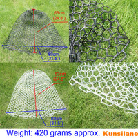 Diameter 21 6 55cm Depth 24 8 63cm Large Mesh Clear Rubber Fishing Landing Net