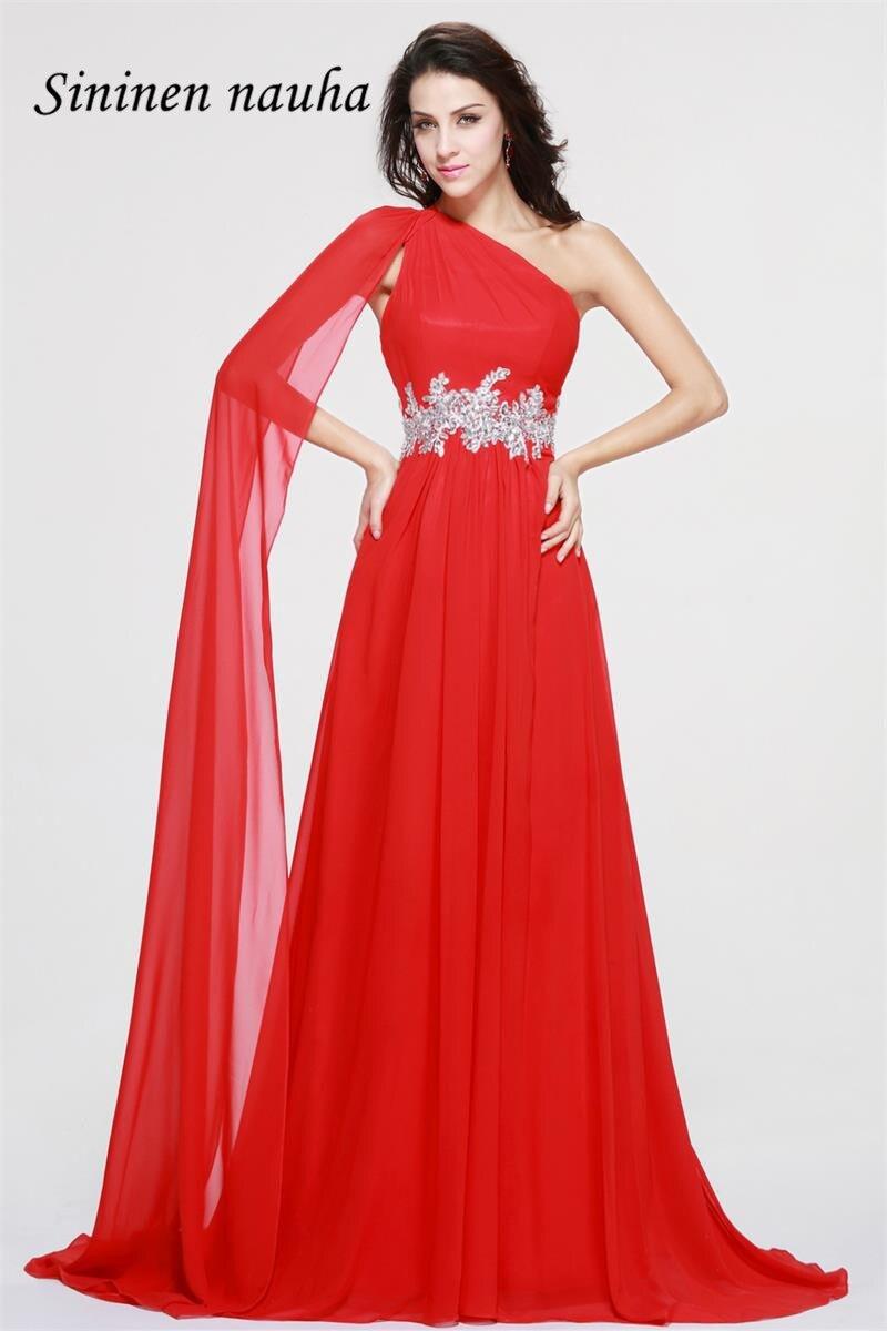 Длинное вечернее платье на одно плечо, платье для выпускного с открытой спиной, кружевное платье трапециевидной формы, большие размеры, ...