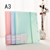 MIRUI A3 30 40 Pockets File Folder For Documents Examination Paper Clear Book Filing Products School Office