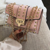 Small clear   Woman  New Fashion Messenger Bag Chains Shoulder Bag Female s Transparent Square PU Handbag