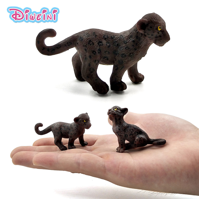 Decorative Toy Cheetah Wildlife Simulation Action Figure Home Decor Kids Toy