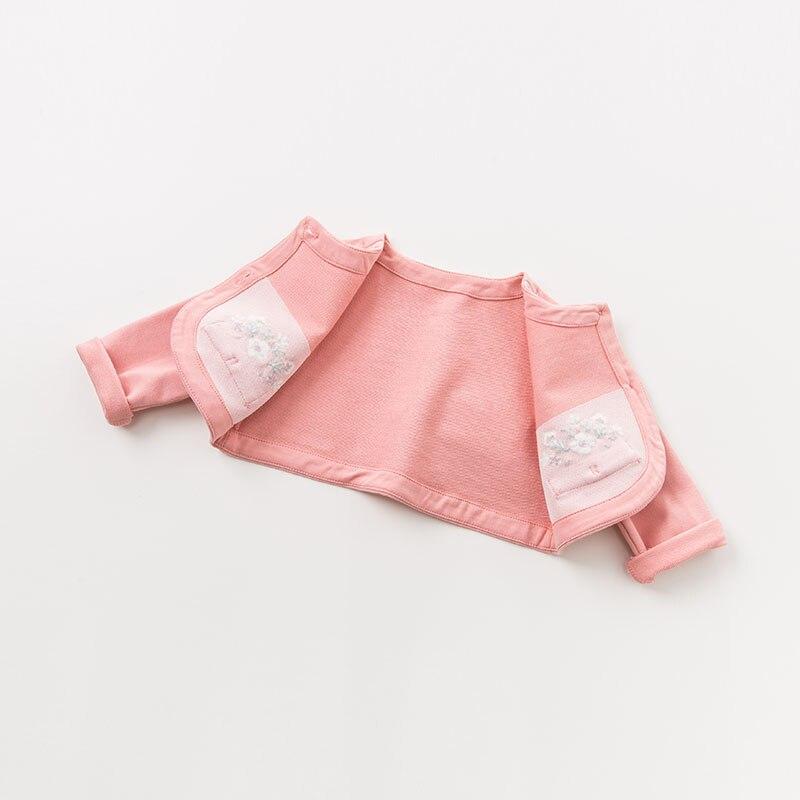 DBM9591 dave bella bébé fille robe à manches longues automne robes rose vêtements enfants fête d'anniversaire boutique robe - 5