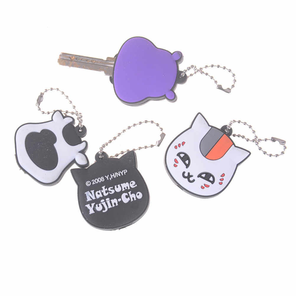 1pc PVC Cute Pet Cat Dog Hippo Chicken Lion Key Cover Cap Rubber Pug Animal  Led 433aaba310