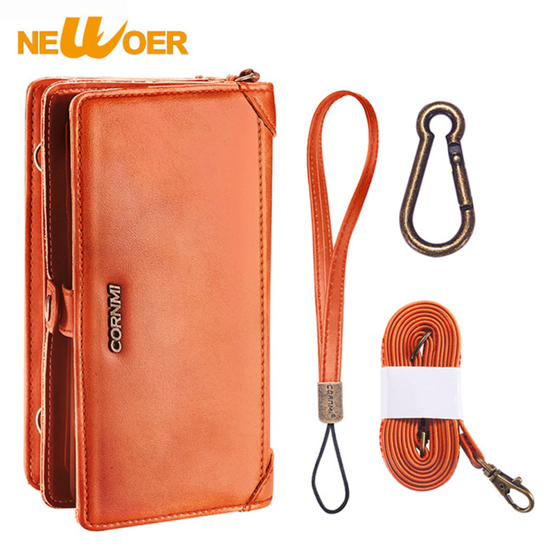 Wallet PU Leather For iPhone 7 8Plus Phone Bag Cover For iPhone 7 8Plus Flip Case Business Wallet Newoer