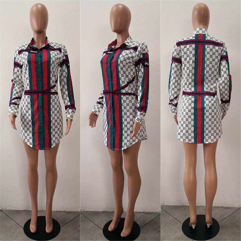 Pakistani Dress Spring And Cotton Women Autumn 2018 Hot Selling New European American Fashion Digital Printing Sexy Shirt Skirt