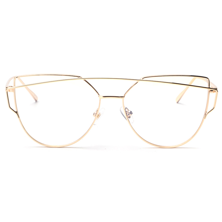 cd11949f91 Alloy Metal Cat Eye Clear Lens Rose Gold Glasses Frame Eyeglasses  Prescription Spectacle Frames Myopia Computer Eyewear Oculos-in Eyewear  Frames from ...