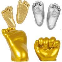 Детская 3D Ручная Печать Ног Плесень порошок гипсовая отливка комплект отпечаток руки Keepsake подарок на день рождения младенец рост мемориал