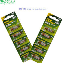 MJKAA 2Card 12v G27A GP27A A27 L828 V27GA EL812 EL-812 CA22 ALK27A A27BP  for Doorbell Remote Control Dry Alkaline Battery