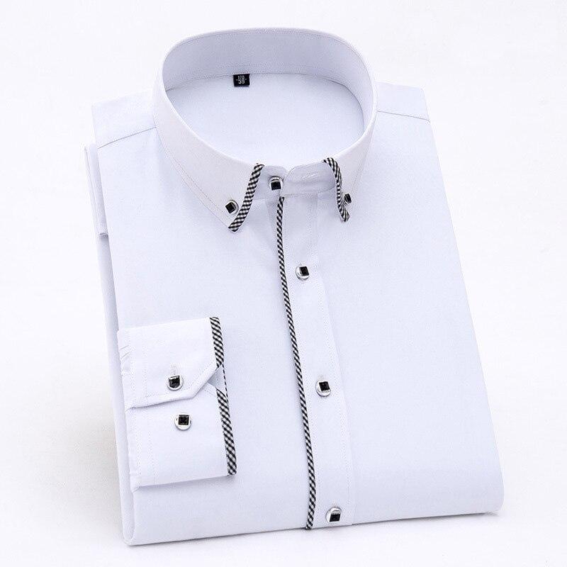 Spring Mens Shirt Long Sleeve Korean Style Casual Shirts Men