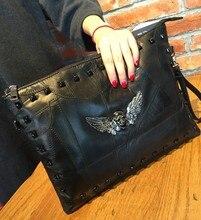 2016 Hot Sale Pocket Zipper New Winter Leather Joining Together With The Envelope Bag Sheepskin Multi-function Single Shoulder