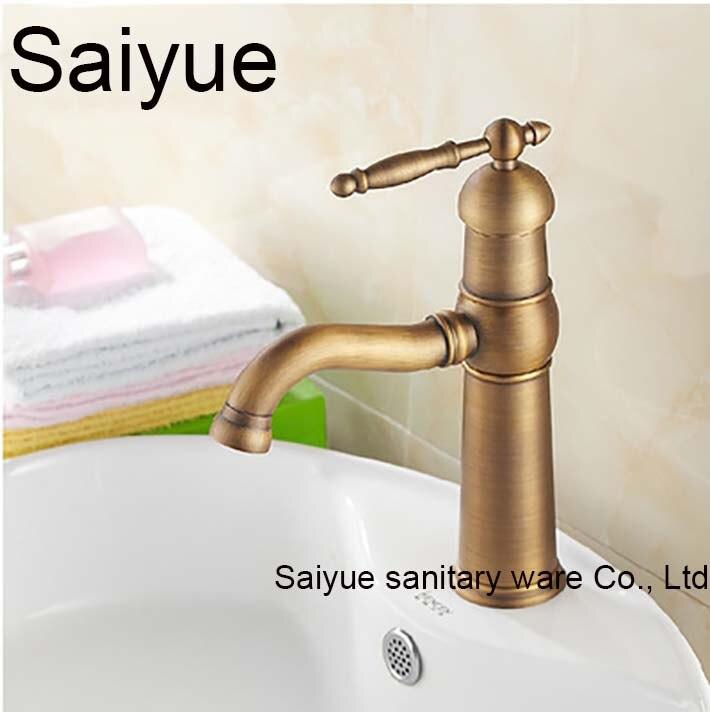 New Arrival Vintage Antique 360 Rotating Single Handle Brass Bronze Kitchen Bathroom Mixer Taps Basin Sink Faucet Swivel Spout