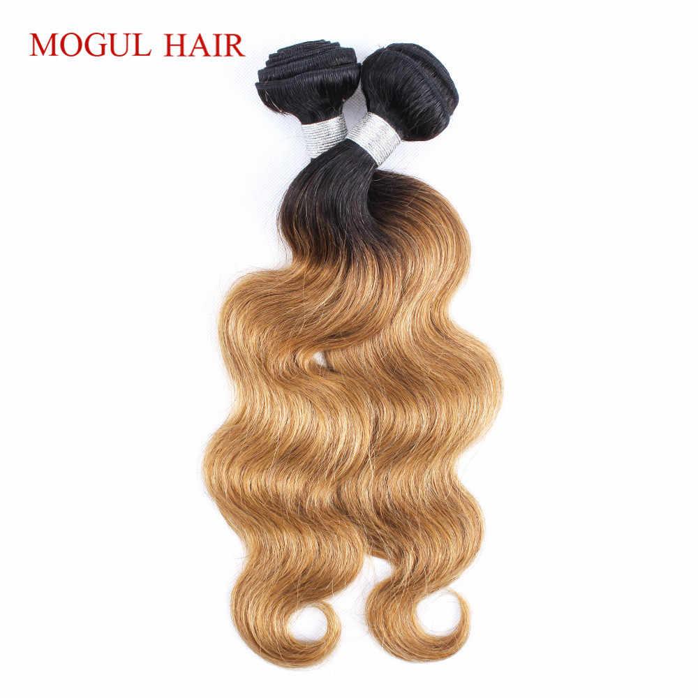 Magnate de pelo paquetes de 2/3 T 1B 27 Ombre rubio miel paquetes indio de la onda del cuerpo de la armadura del pelo no Remy cabello humano extensión de 10-24 pulgadas